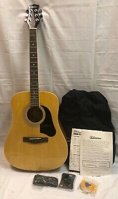 Silvertone Pro Series 6-String Acoustic Guitar Sd3000Pk N W/ Case & Accessories