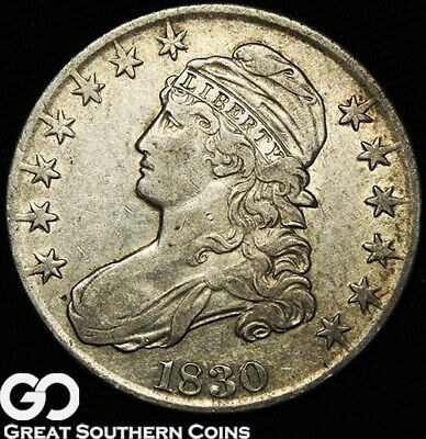 1830 Capped Bust Half Dollar, Early Silver Half