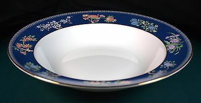 Wedgwood Blue Siam 8 Inch Rimmed Soup Bowls 1st Quality New Unused