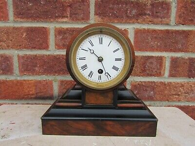 French Walnut and Ebony 8 Day Drum Clock C1890 (smaller size)