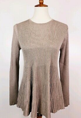 e90188280c86 Philosophy Long Sleeve Top Womens Size S Ribbed Pull Over Peplum Blouse  Sweater