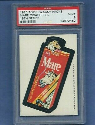 Wacky Packages 1975 Series 15 Mare Cigarettes Psa 9 Mint