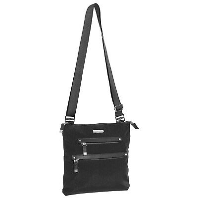 383f10e4cde9 BAGGALLINI ALL AROUND MEDIUM CROSSBODY Bag Crinkle Nylon SOLID BLACK ...