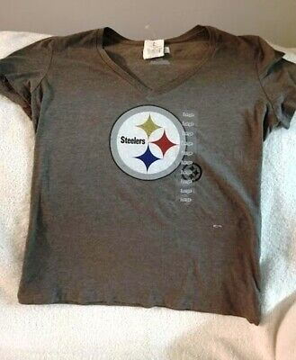 a5d40638bbe0d NFL Pittsburgh Steelers Women's Athletic T-Shirt, Grey, Size Medium & Large-