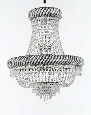 French Empire Crystal Chandeliers Lighting H26 X W23 With