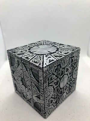 PAINTED Hellraiser Inspired Puzzle Box Lament Configuration (Black with Silver)
