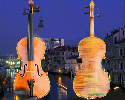 A02 Full Size 4/4 Handmade Wooden Violin Beginners Practice Musical Instrument M