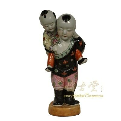 Vintage Chinese Porcelain Children Statue