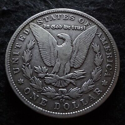 1883-CC Morgan Silver Dollar - Solid Fine F details from the Carson City Mint