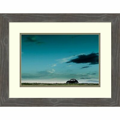 Framed Art Print 'The Red VW Beetle' by Camilo Otero