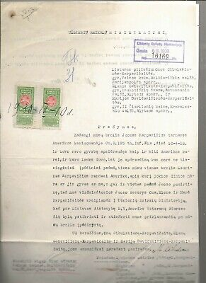 1930 Lithuanian Document Revenue Stamps