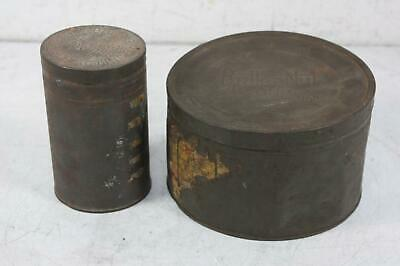 2 VIntage Metal Tins Clabber Girl Baking Powder and Butternut Coffee Americana