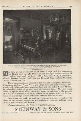 1906 Steinway Piano Colonial Music Room Instrument Ad 8183