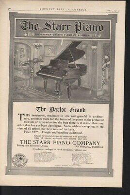 1909 Starr Piano Music Play Richmond Instrument House 14121