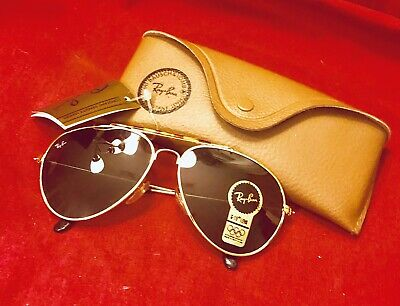 Ray ban Vintage Aviator Olympic B & L  Sunglasses Gold Frame G-15 Lens