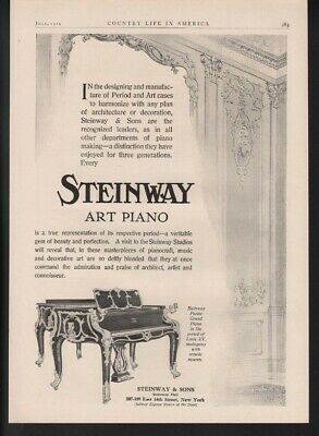 1909 Steinway  Piano Music Dance Parlor Grand Beauty Decor Victorian Key A22571