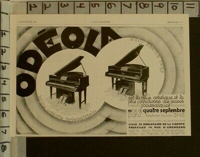 1929 Odeola Player Piano Music Sound Dance Key Grand Pedal French  2284822848