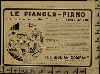 1913 Aeolian Piano Player Music Dance Steck Roll Chenet French  2291122911