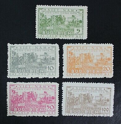 CKSTAMPS: NORTH VIETNAM Stamps Collection Scott#23-27 Unused NH NG