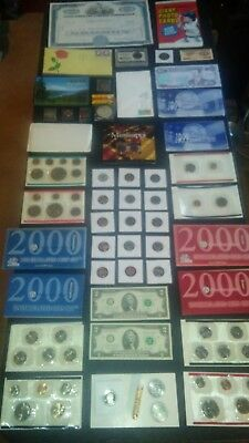 BIG coin LOT collection MINT SETS PROOF $2 RAILROAD BOND baseball NO JUNK DRAWER