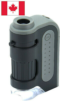 Carson Micro Brite Plus 60X-120X LED Lighted Pocket Microscope Science mm300 new