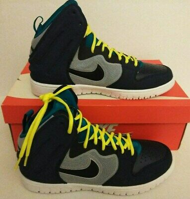 aa8abeac5fdc NIKE DUNK FREE High Top Mens Sneakers Shoes Black Gray Lime Green ...