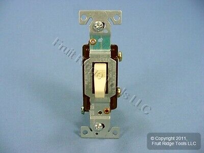 Cooper Ivory COMMERCIAL Single Pole ON/OFF Toggle Light Switch 15A Bulk CS115V