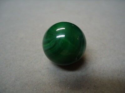Akro Agate Green Opaque Marble   3/4   Mint +