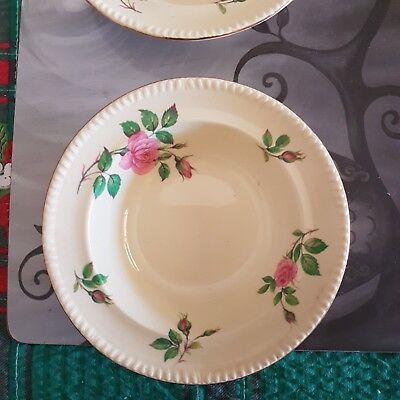 Antique Bowls 'swinnterons' Vgc No Chips X 3 Roses England 'harvest' Cheap!