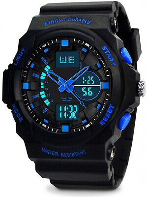 Kids Digital Analogue Watches - Boys 5 ATM Waterproof Sports Watch with Dual -
