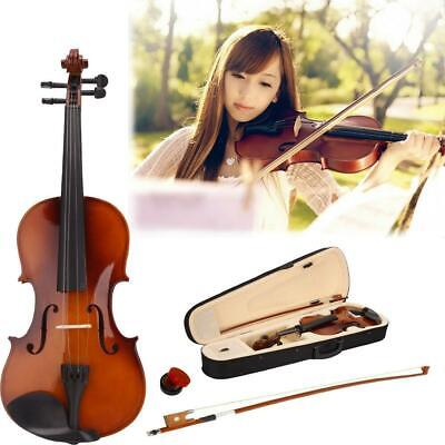 3/4 Size Acoustic 11-12 years old Children Violin+Case+Bow+Rosin Natural Color