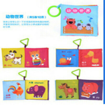 Soft Baby Cloth Book Intelligence Development Cloth Bed Book Educational Toy OE