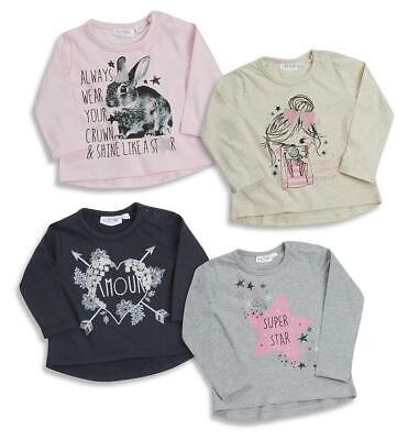 Baby Girls Long Sleeve Top T-Shirt Cute Printed Designs Cotton 0-24m By BABYTOWN
