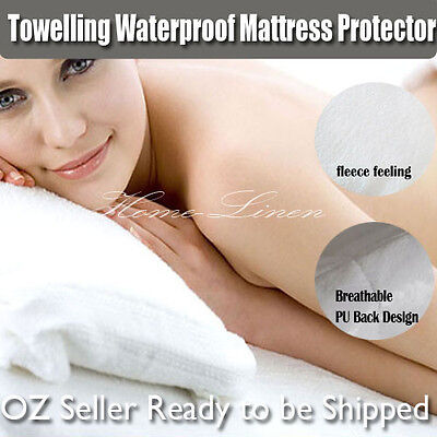 New Fully Fitted Waterproof Mattress Protector<<Cot/Single/Double/Queen/King