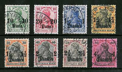 TURKEY GERMAN OFFICES 1905-1913 Used Set of 8 Michel #36-43 CV €85