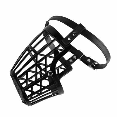 Adjustable Basket Mouth Muzzle Cover For Dog Training Bark Bite Chew Control TM