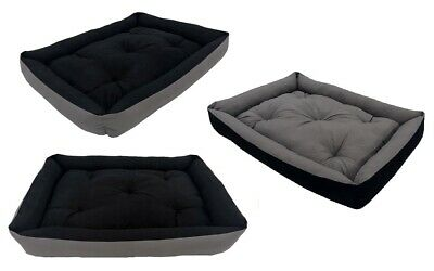 Dog Bed Large luxury Fabric Cotton Sofa Kennel Cushion Mattress Washable 2in1