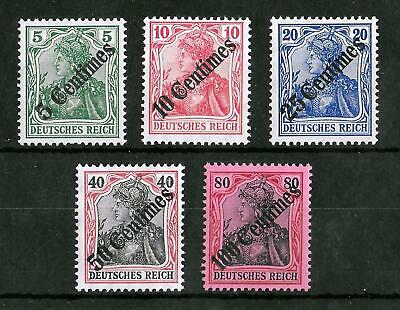 TURKEY GERMAN OFFICES 1908 Mint NH Complete Set of 5 Michel #48-52 CV €320 VF