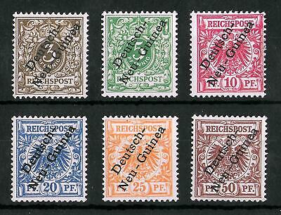 GERMAN NEW GUINEA 1897 Mint LH Complete Set of 6 Michel #1-6b CV €100