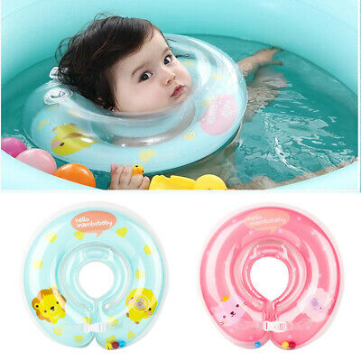 Baby Inflatable Neck Float Circle Newborn Infant Swimming Swim Poor Safety Ring