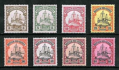 GERMAN NEW GUINEA 1900-1901 Mint NH Set of 8 Michel #7-9 & 11-15 CV €130 VF