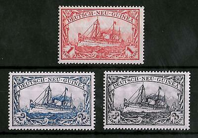 GERMAN NEW GUINEA 1900-1901 Mint LH Set of 3 Michel #7-9 & 16-18