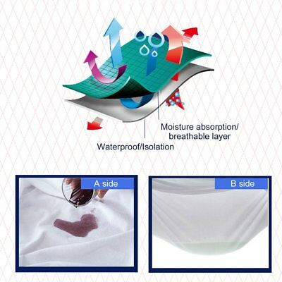 Mattress Protector Sheet Wet Matress Cover Waterproof Terry Towelling Cotton &2