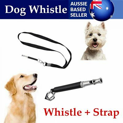 Dog Whistle Stop Barking Silent Ultrasonic Sound Repeller Train With Strap W2