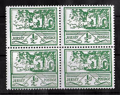 JERSEY GERMAN OCCUPATION 1943-1944 Mint NH 1/2d Block of 4 Michel #3y CV €80