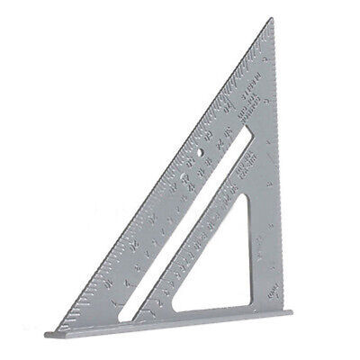 "6.5"" Aluminum Alloy Triangle Ruler Protractor Woodworking Measuring Tool O8P6"