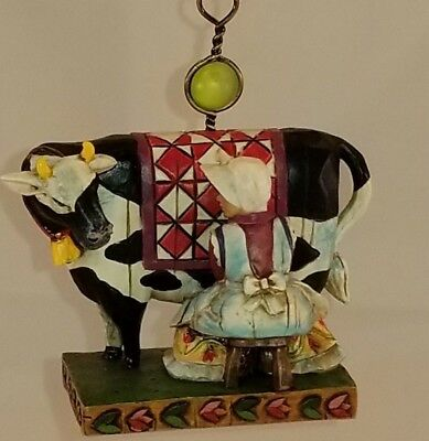 """3 1/4"""" MAID MILKING COW ORNAMENT ONLY Jim Shore 12 Days of Christmas"""