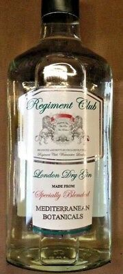 GIN IST IN ! 2x 700ml Liter London Dry Gin REGIMENT CIub not only for Gin Tonic