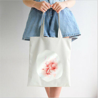 Fashion  Cotton Linen Shopping Tote Shoulder Carrying Bag Eco Reusable Bag CB