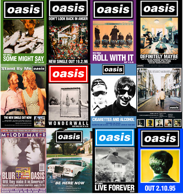 OASIS Album & Single photo print Posters A4, A3, A2 High Quality + Glossy 260gsm
